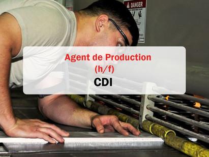 CDI / Agent de production 👨🏭 H/F (offre pourvue)
