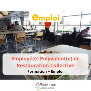CDI/ Employé(e) Polyvalent(e) de Restauration Collective - Vourles