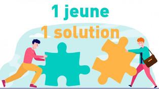 """Lancement de la plateforme """"1 jeune 1 solution"""""""