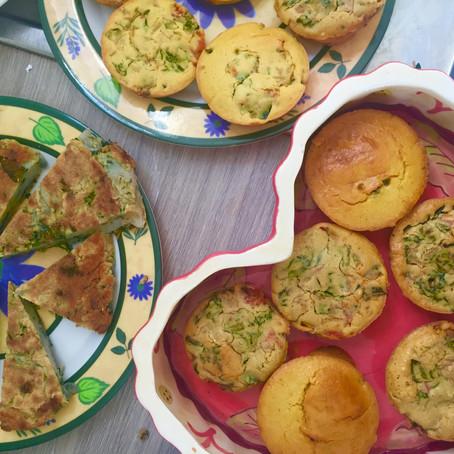 Mini Chickpea & Vegetable Breakfast Muffins