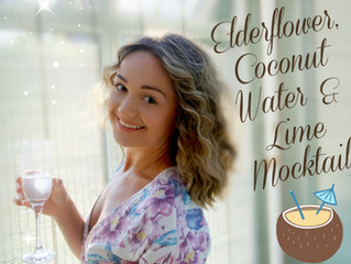 Elderflower, Coconut Water & Lime Mocktail