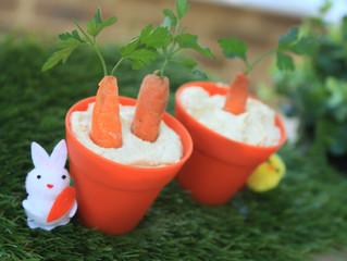 Carrot Hummus Pots
