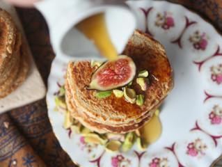 Fig & Pistachio Pancakes