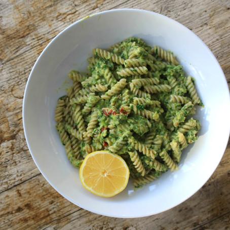 Pesto Brown Rice Pasta Recipe