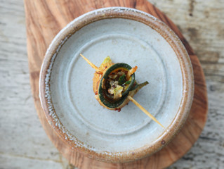 Aubergine and Courgette Roll-Ups