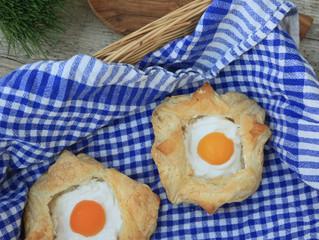 Apricot Easter Egg Pastry Parcels