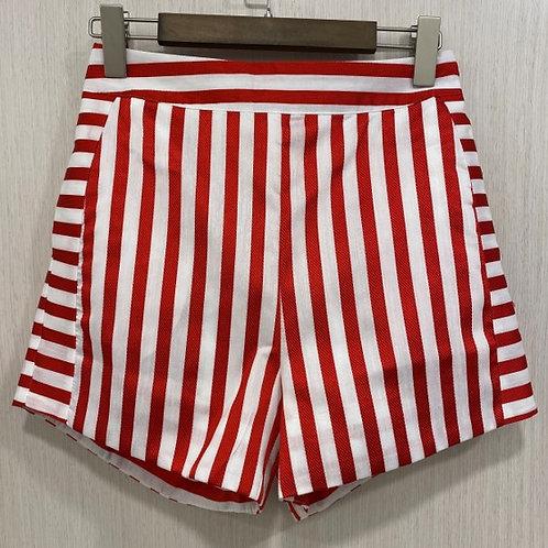 M070100172 條紋短褲紅