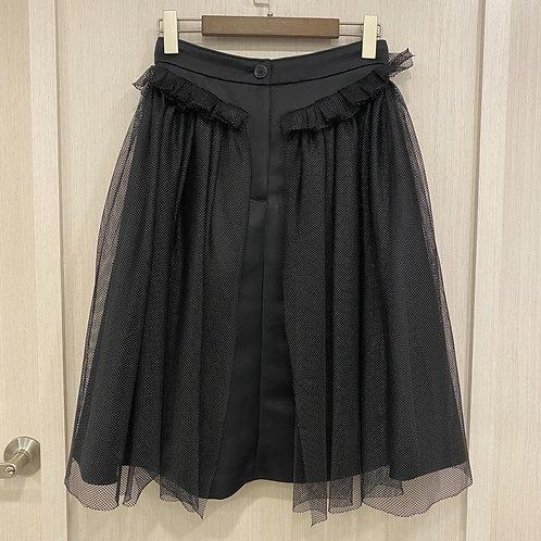 H18W12045蕾絲網布短裙
