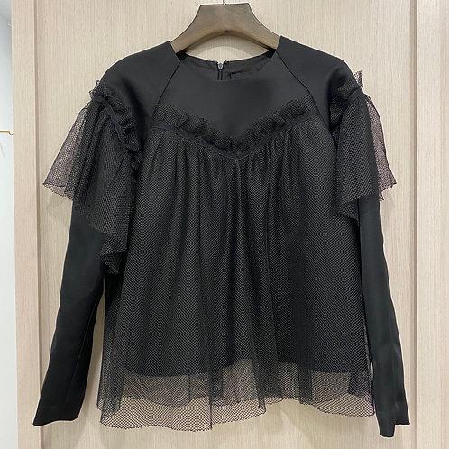 H18W12042蕾絲網布上衣