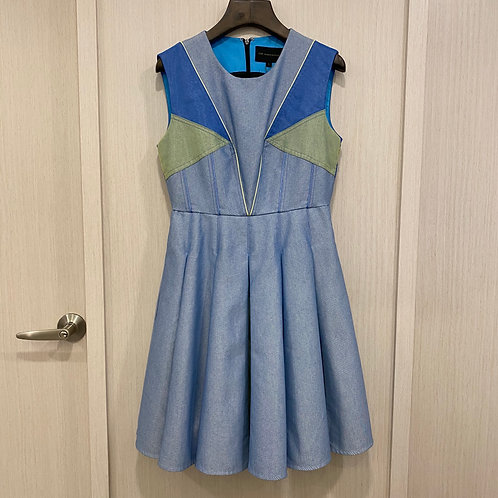 H010100007混和棉牛仔洋裝