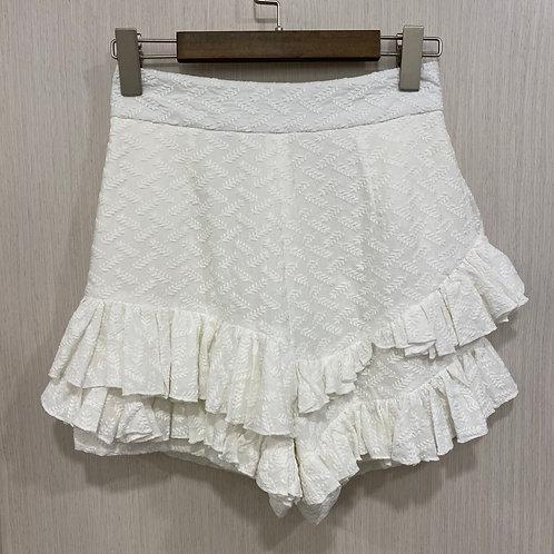 M070100319 白色緹花短褲