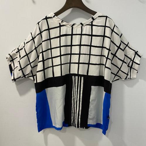 T2019090013七分圓領上衣