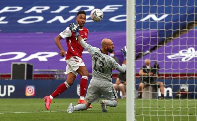 Aubamyang goals against Chelsea