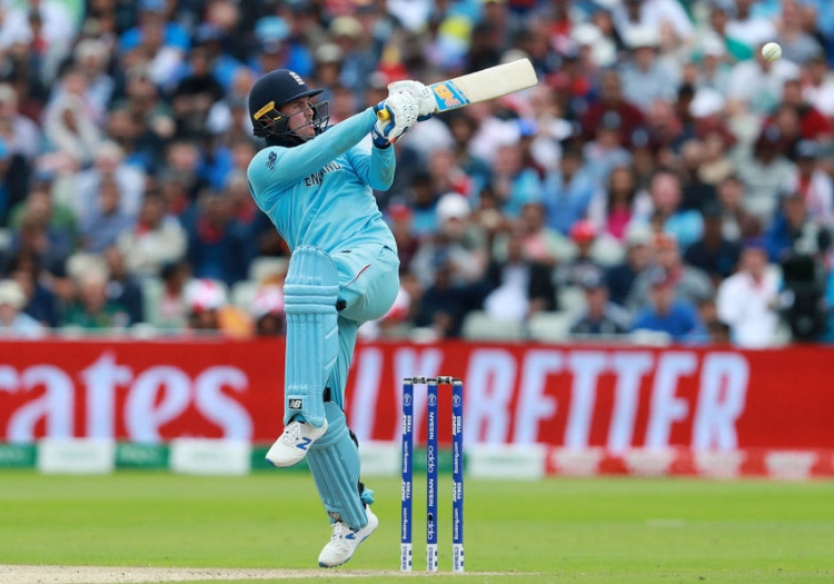 Jason Roy batting for England