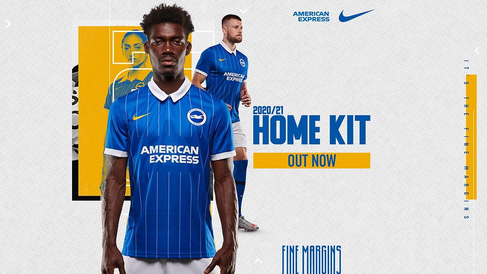 Brighton Home kit Premier League 2020/2021