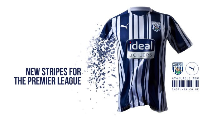 West Brom Premier League kit 2020/2021