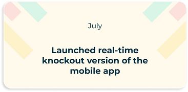 launched real-time knockout version of the mobile app
