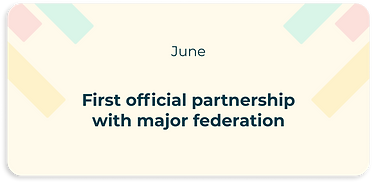 first official partnership with major federation