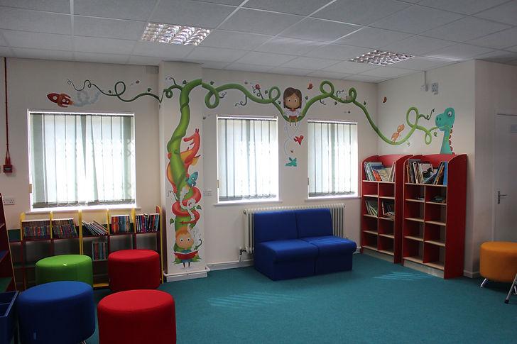 Keri Green's Illustration Portfolio, Wall Art, School Library, School Artwork, Illustration for children, dragon, books