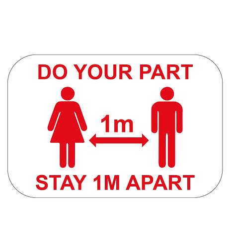 Do your part 1m - Floor Sticker