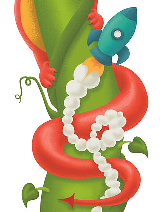 Wall Art, Dragon, Rocket, Illustration