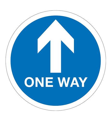 One Way - Floor Sticker