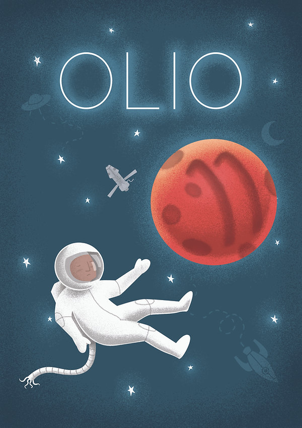 Keri Green's Illustration Portfolio, Olio, Illustration, Astronaut, Space