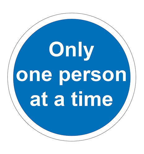 Only one person at a time - Floor Sticker