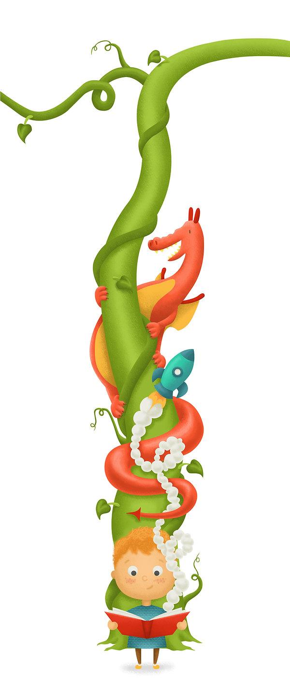 Dragon, beanstalk, rocket