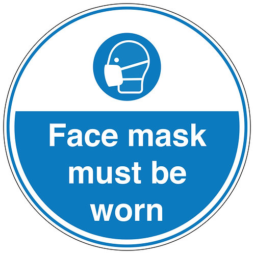 Face mask must be worn- Wall Sticker
