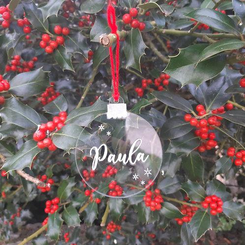 Adorno navideño con nombre