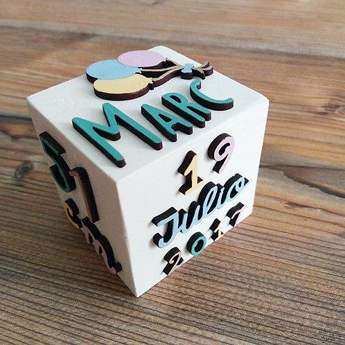 Cubo de nacimiento 2 o 3 colores
