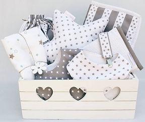 Cesta y canastilla de bebé personalizable