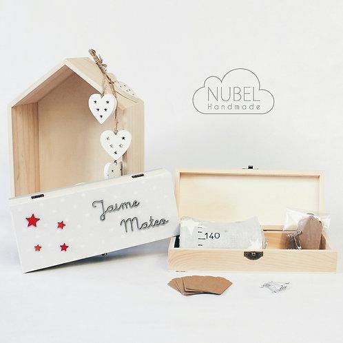 medidor, medidor de tela, caja personalizada, medidor infantil