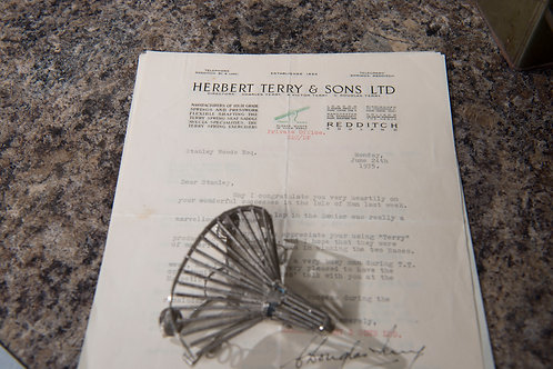 "Silver ""Terry"" model saddle with provenance letter"