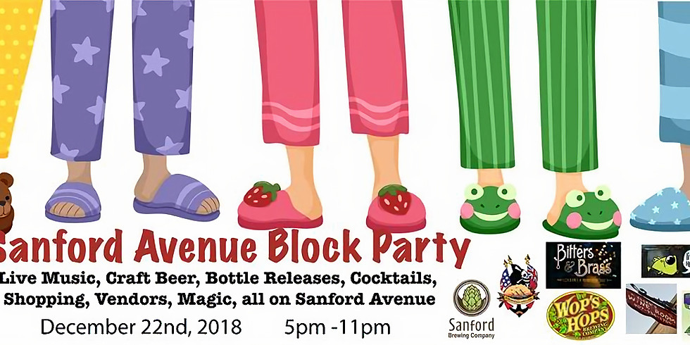 Pajama & Ugly Sweater Party at Sanford Ave Block Party