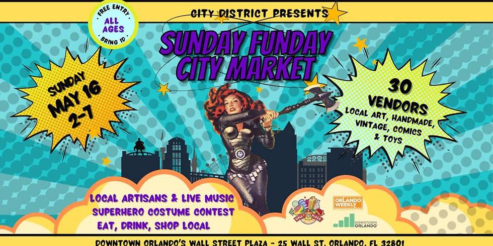 Sunday Funday City Market - Super Hero Party