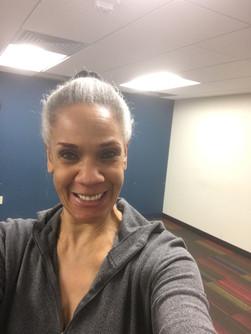 Selfie before Pilates class.
