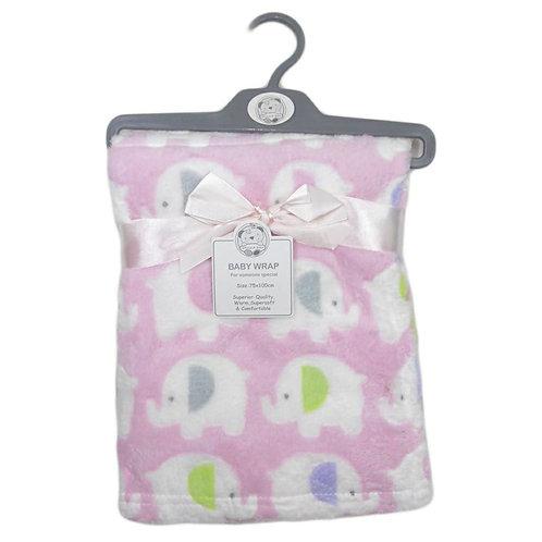 Baby Pink Elephant Blanket