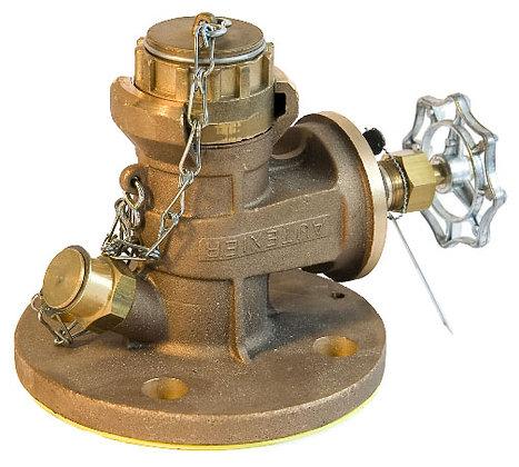 vanne de vidange avec raccord Guillemin (appelé aussi raccord pompier) et système de prélèvement + joint