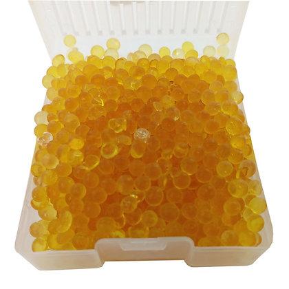 perles de silicagel jaunes qui permettent d'absorber l'humidité