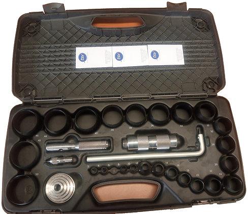 kit de découpage de joints avec cutter, pince, biseau dans une mallette