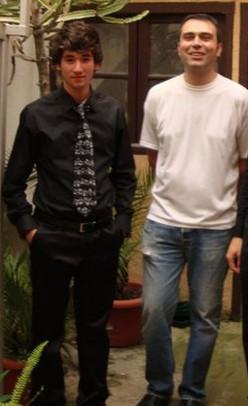 With my dear teacher David Blay