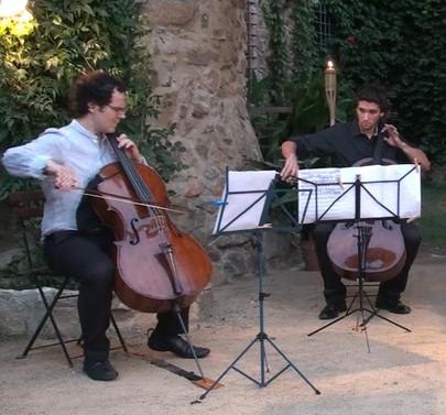 Playing with my dear teacher Damian Martínez Marco