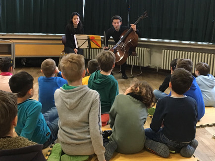 Playing for children with ChiaYing