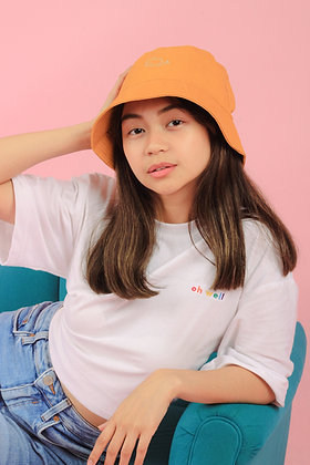 Oh Whale Bucket Hat in Mustard Gold