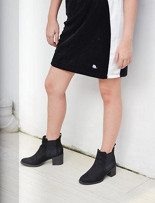Velvet x Mesh Skirt