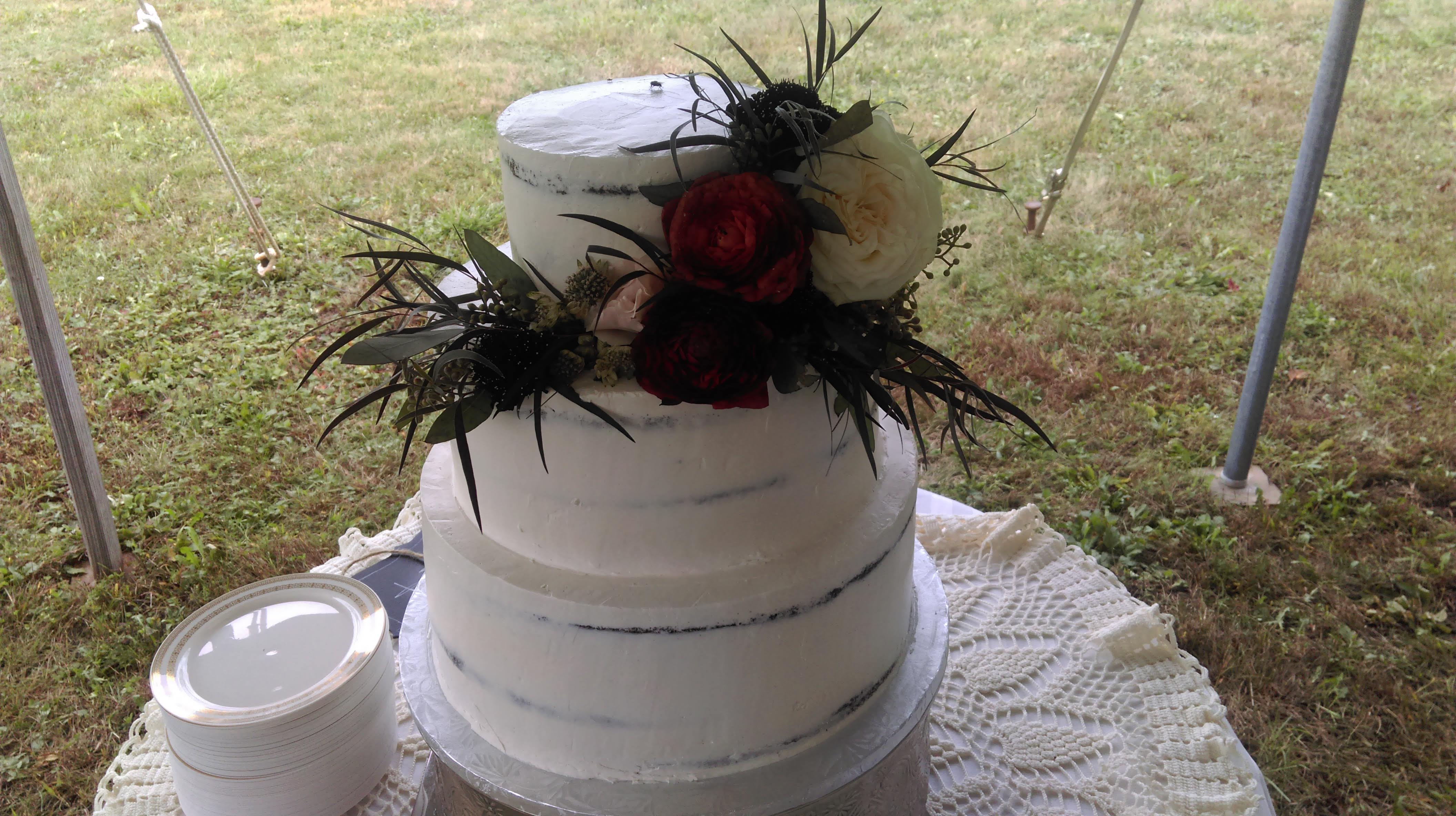 Wedding Cake Scantily Clad Flowers