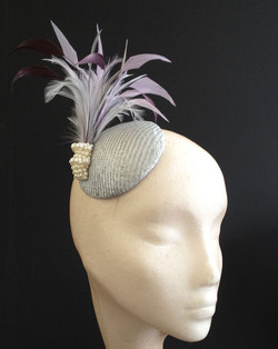 Silver & Purple Button