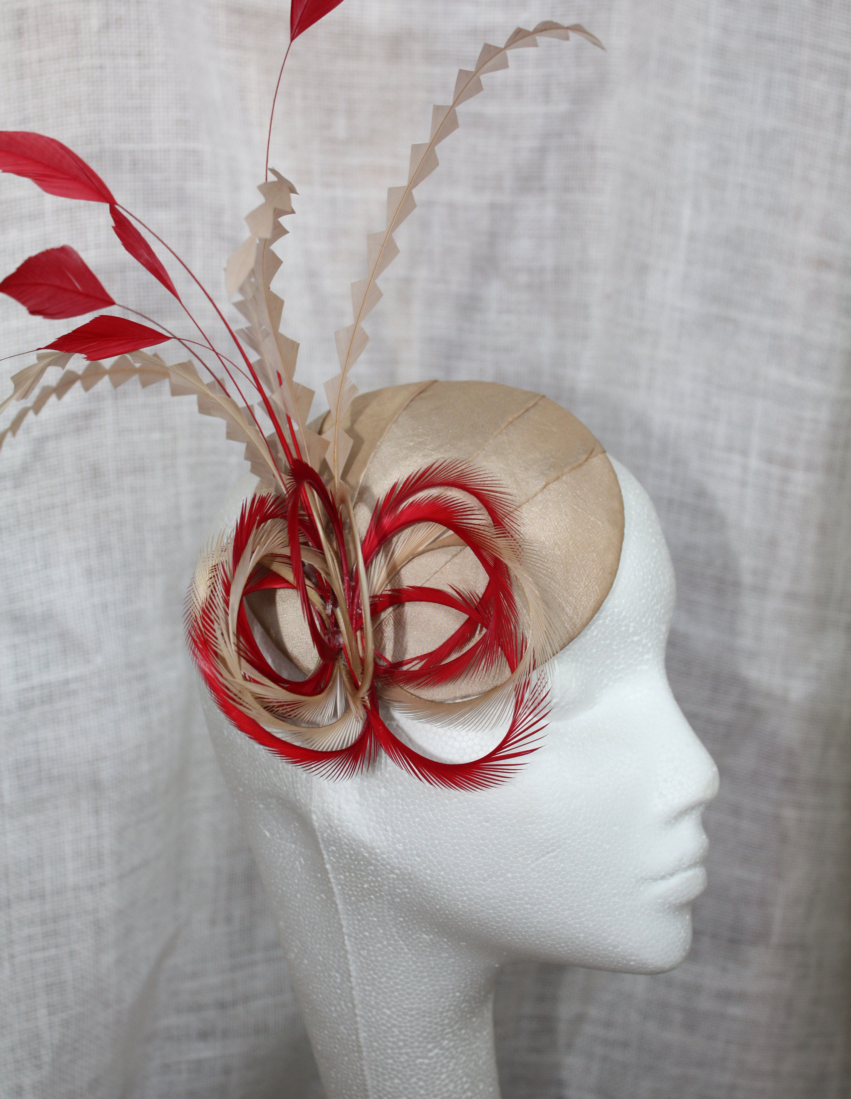Gold & Red Percher